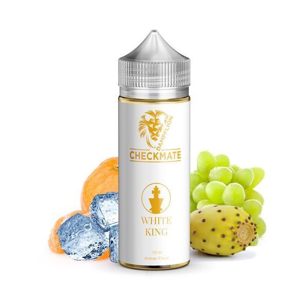 White King Aroma von Dampflion ♥ Mandarine, Traube, Kaktusfeige, Koolada ✔ 8-10% ✔ Inkl. 120ml Leerflasche ✔ Schneller Versand ✔