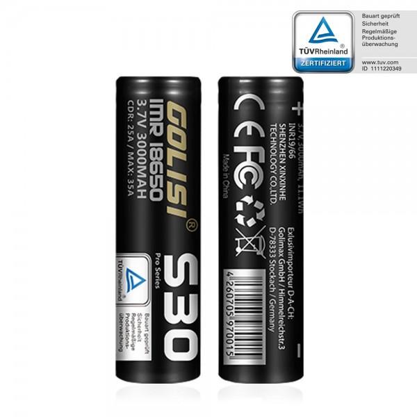Golisi S30 Batterie ♥ 18650 ✔ 3000mAh ✔ 35A ✔ Hochleistungsakku (High Drain) ✔