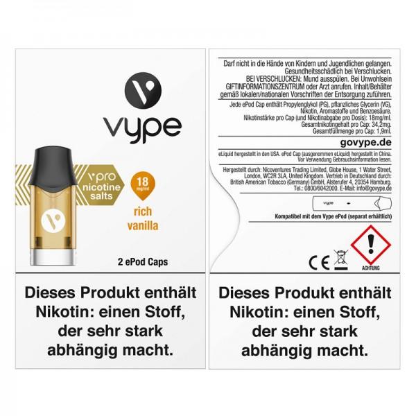 Vype ePod vPro Caps Rich Vanilla 2er Pack