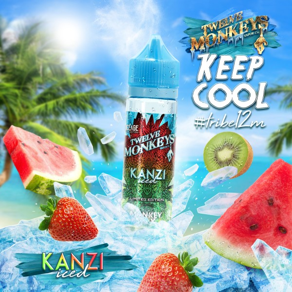 IceAge Kanzi Liquid von 12Monkeys ♥ Shortfill ✔ Wassermelone, Erdbeere, Kiwi, Koolada ✔ Schneller Versand ✔