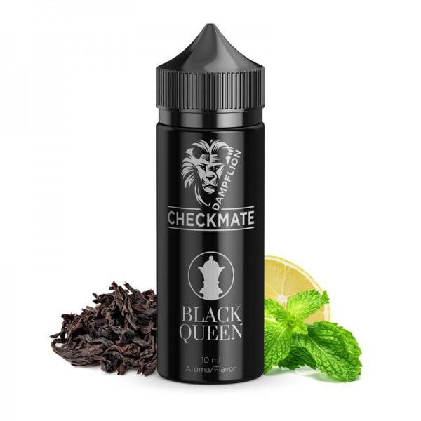 Black Queen Aroma von Dampflion ♥ Schwarztee mit Minze und Zitrone ✔ 8-10% ✔ Inkl. 120ml Leerflasche ✔