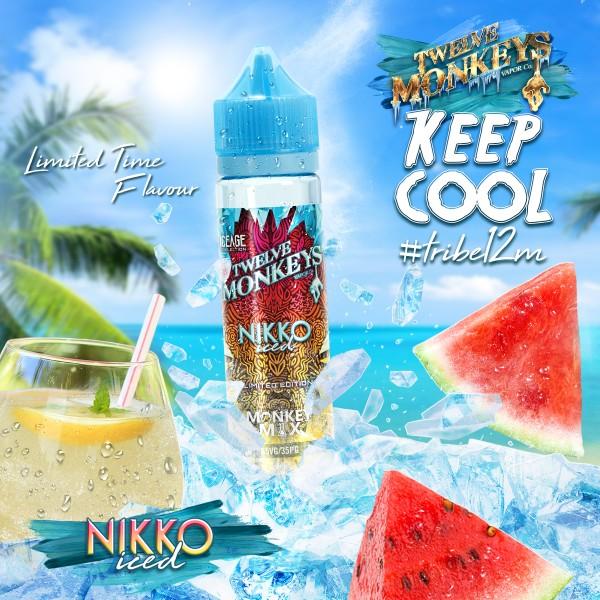 IceAge Nikko Iced Liquid von 12Monkeys ♥ Shortfill ✔ Wassermelone, Limonade, Crushed Ice ✔ Schneller Versand ✔