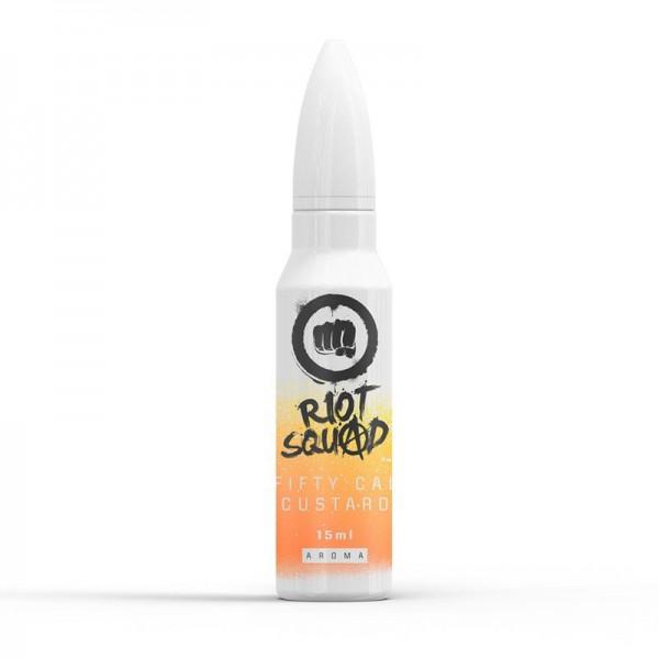 Fifty Cal Custard von Riot Squad ♥ Vanillepudding + X ✔ 15ml Longfill Aroma ✔ Einfach mit Base auffüllen ✔ Schneller Versand ✔