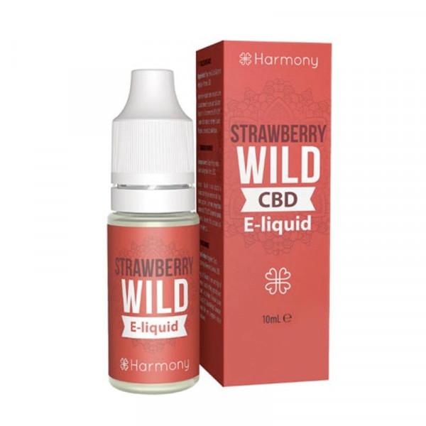 Strawberry Wild CBD Liquid von Harmony ♥ Erdbeere + Cannabis ✔ Mit Cannabidiol ✔ Schneller Versand ✔ Günstig bestellen ✔